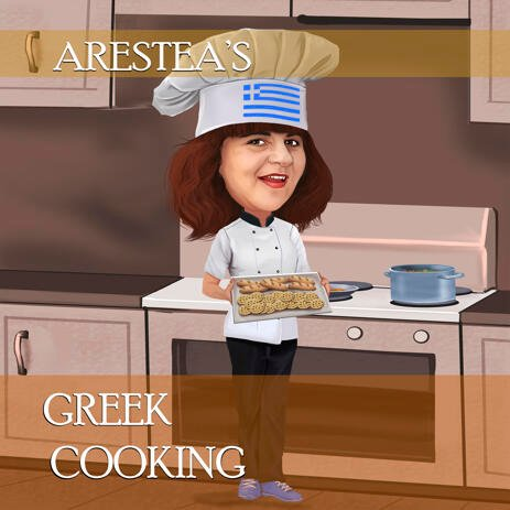 Chef Caricature Portrait for Personal Cooking Brand Logo - example