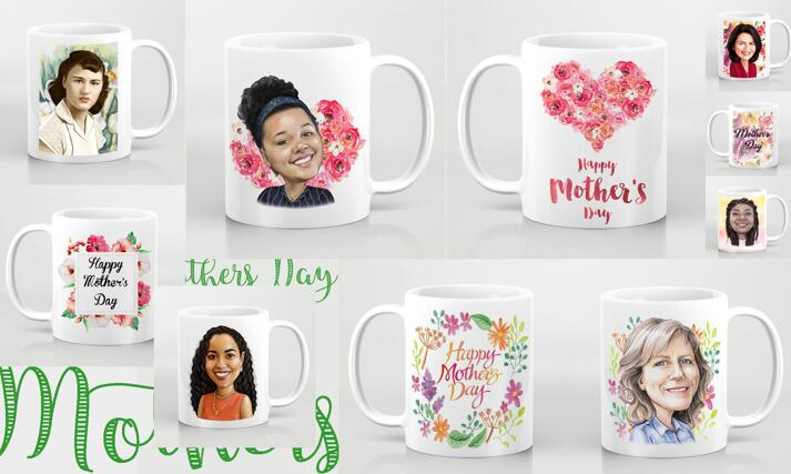 Mother's Day Caricature Mug large example