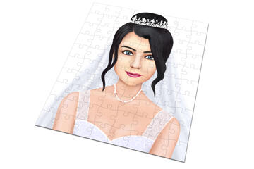 Bride Caricature as Wedding Gift on Puzzle