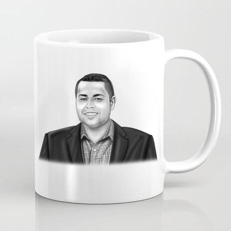 Corporate Portrait on Cofee Mug - example