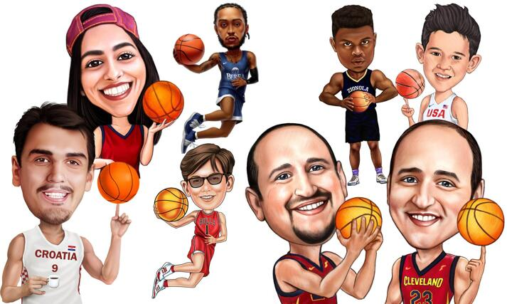 Basketball Caricatures  large example