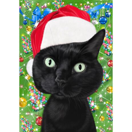 Portrait de caricature de chat de Noël à partir de photos - example