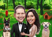 Bruiloft karikaturen example 33