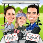 Caricatura da golf example 4