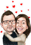 Couple Caricatures example 8