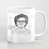 Photo Print on Mug: Personalized Portrait Drawing in Pencils Style