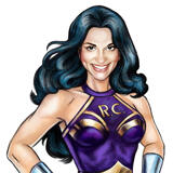 Superhero Mom Caricature for Mother's Day Gift