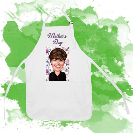 Print on Cook Apron: Personalized Cartoon Drawing - example