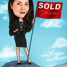 Realtor Caricature from Photos Digital Style