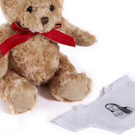 Teen Caricature from Photos as Teddy Bear - example