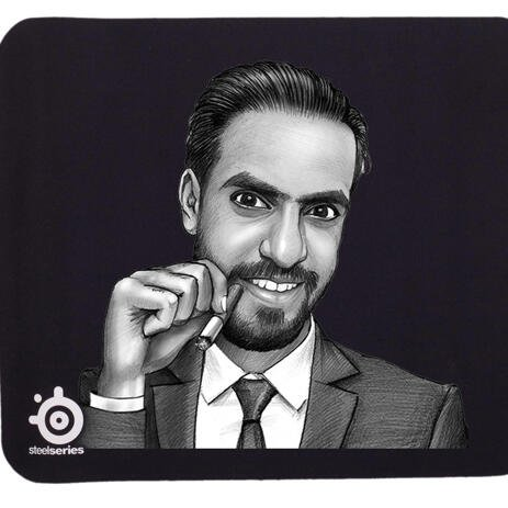 Corporate Portrait on Mouse Pad - example