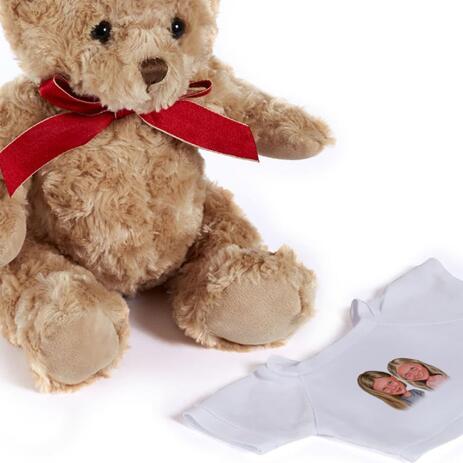 BFF Kid Caricature Printed on Teddy Bear - example
