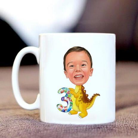 Birthday Children Caricature on Mug - example