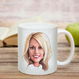 Business Logo Caricature on Cofee Mug