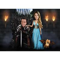 Game of Thrones-Fans paaren sich mit Tierkarikatur aus Fotos