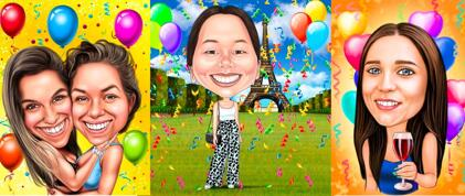 Birthday Caricature for Her