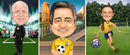 Soccer Football Caricatures