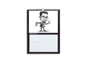 Calendar with Business Caricature