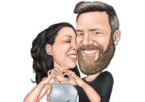 Couple Caricatures example 21