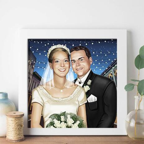 Wedding Portrait Printed on Poster - example