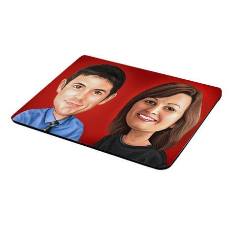 Corporate Caricature on Mouse Mat - example