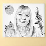 Print on Canvas: Original Portrait Drawing from Photo