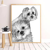 Dogs Portrait on Printed Poster