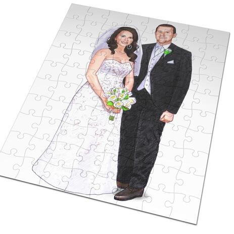 Wedding Portrait Printed on Puzzle - example