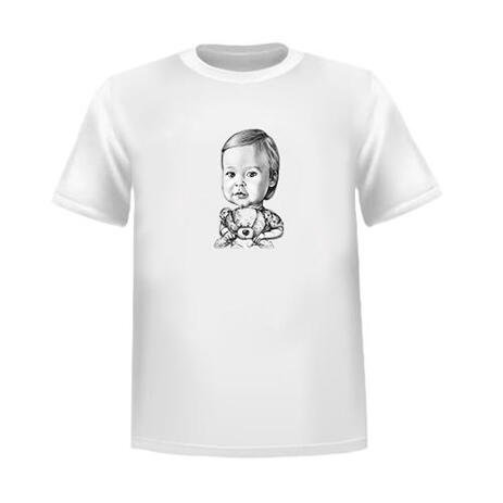 Kid Caricature Tshirt from Photos - example