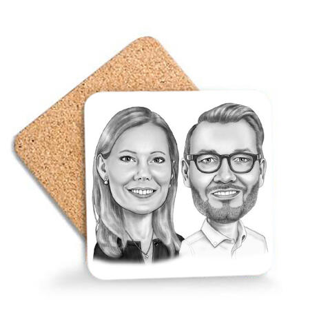 Business Partners Caricature on  - example