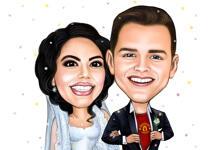 Bruiloft karikaturen example 14