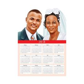 Wedding Caricature Calendars