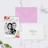 Bride and Groom Cartoon from Photos as Invitations