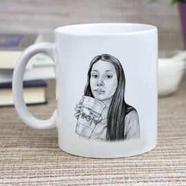 Teen Caricature from Photos as Mug
