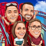 Rollercoaster Caricature example 3