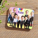 Employees Caricature on Photo Coasters