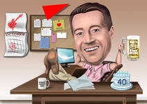 Boss Day Caricature example 4