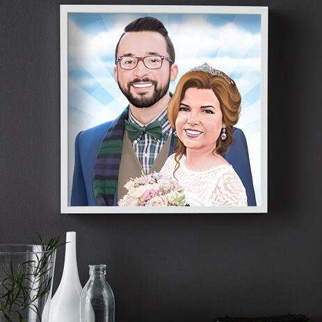 Custom Wedding Gift - Caricature Printed on Poster - example