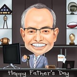 Printable Caricature Drawing Online on Father's Day