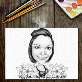 Custom Caricature Drawing: Original Caricature Drawing on Paper