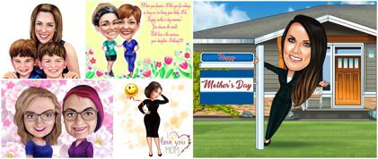 Mother's Day Caricature