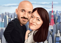 Couple Caricatures example 2