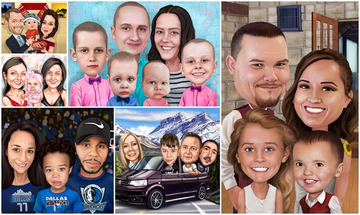 Family Caricatures large example