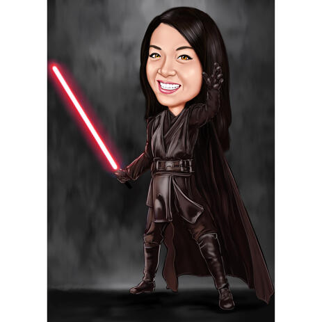 Personalized Star Wars Caricature for Star Wars Fans - example