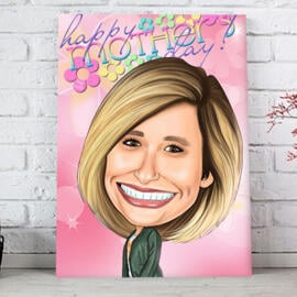 Custom Print on Canvas: Digital Caricature Drawing from Photo Online