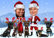 Christmas Pet Caricature example 30