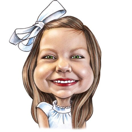 Kid Caricature from Photos in Colored Pencils - example