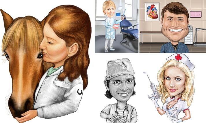 Medical Caricature large example