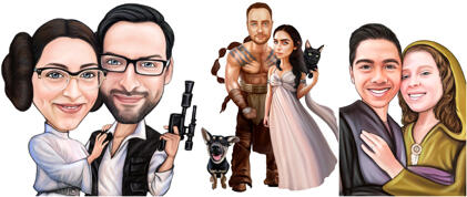 Couple Movies Caricatures
