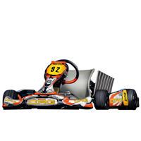 Schizzo del fumetto di auto da corsa in stile colorato dalla foto